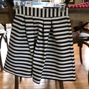 ASOS size 00 blue and white striped skirt